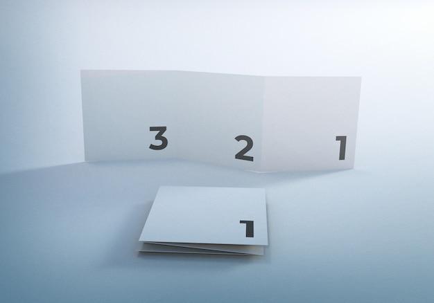 Conception de brochure d'entreprise de maquette de dépliant à trois volets