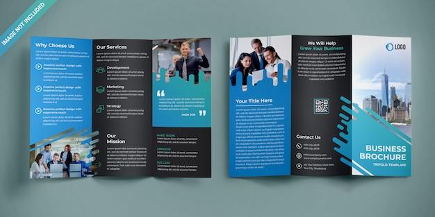Conception de brochure d'entreprise à trois volets