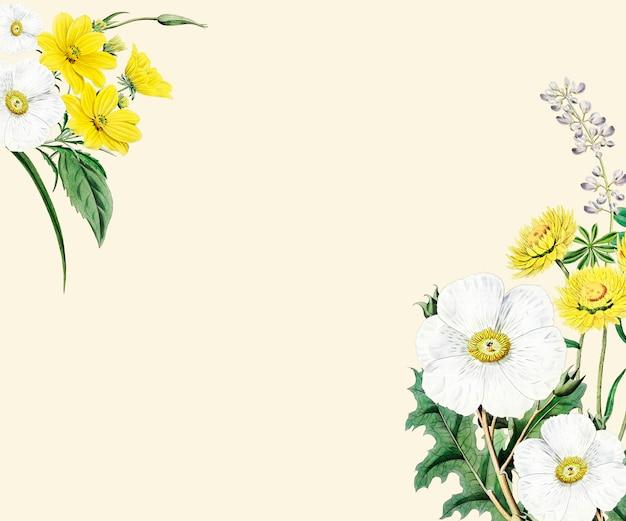 Conception de cadre de fleur