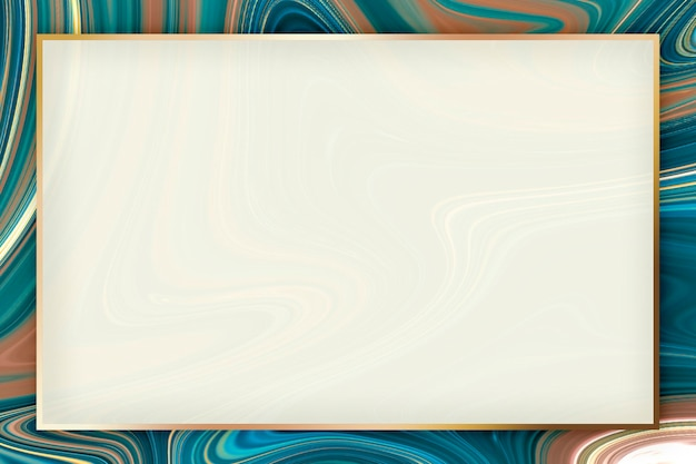 Conception de cadre rectangle doré fluide