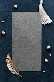 Conception de cadre rectangle festif vierge
