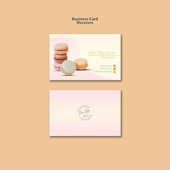 Conception de carte de visite de macarons