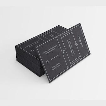 La conception de carte de visite noir