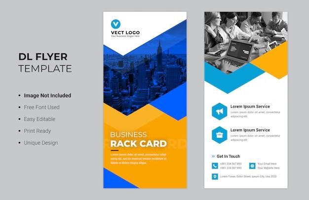 Conception de cartes d'affaires en rack