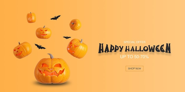 Conception de concept de fond d'affiche halloween