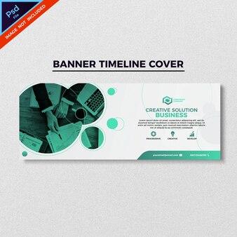 Conception de couverture de calendrier de bannière de style de commerce vert