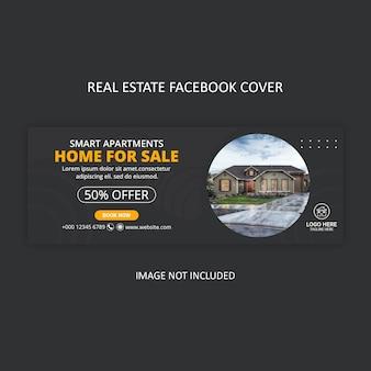 Conception de couverture facebook pour agence immobilière