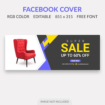 Conception de la couverture de vente facebook