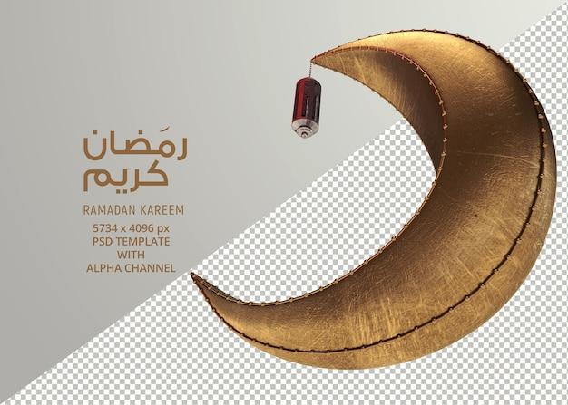 Conception créative de lune ramadan isolée