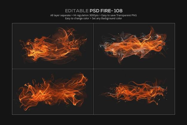 Conception d'effet de feu abstrait dans le rendu 3d
