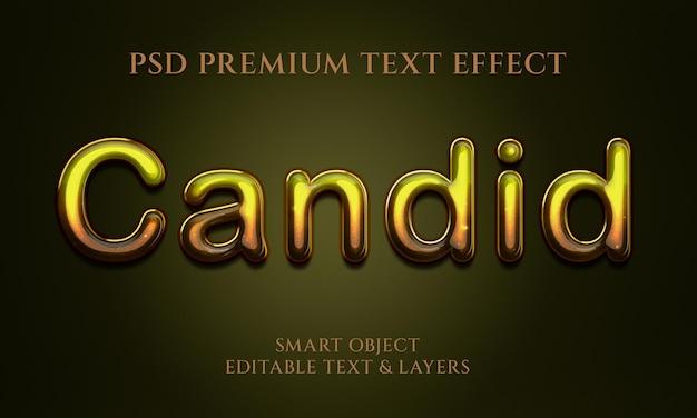 Conception d'effet de texte franc