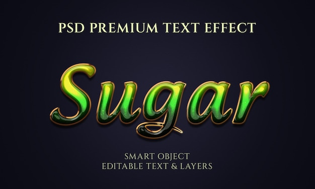 Conception d'effet de texte de sucre coloré