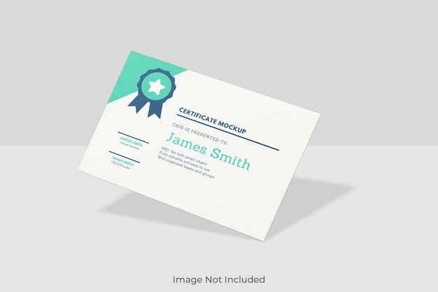 Conception élégante de maquette de certificat
