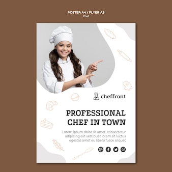 Conception de flyer de chef professionnel