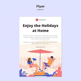 Conception de flyer concept staycation