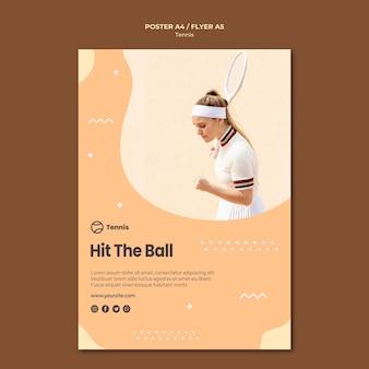 Conception de flyer concept tennis