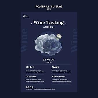 Conception de flyer de dégustation de vin