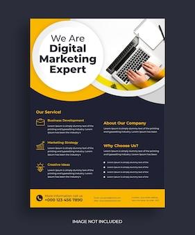 Conception de flyer d'entreprise créative