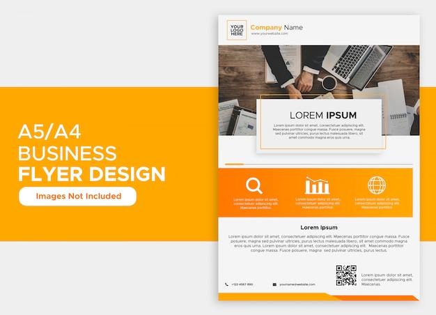 Conception de flyer d'entreprise simple