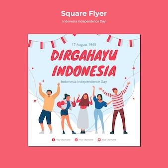 Conception de flyer pour le jour de l'indépendance de l'indonésie