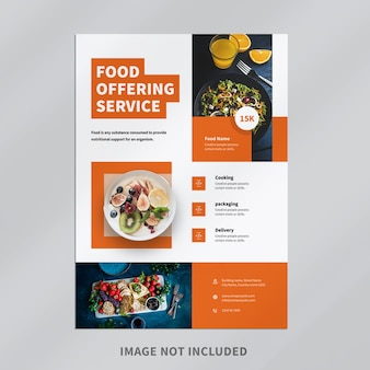 Conception de flyers de restaurants alimentaires