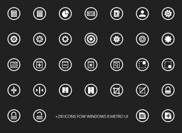 Conception freebie glyphes icônes téléphone mobile ressources fenêtres