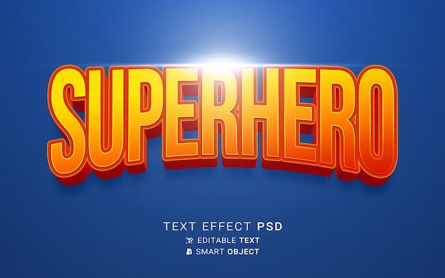 Conception de héros à effet de texte