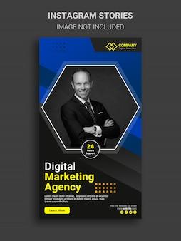 Conception d'histoires instagram de marketing d'entreprise numérique