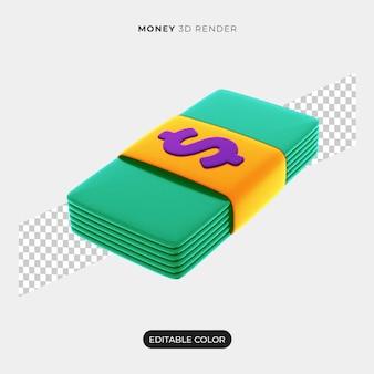 Conception d'icône d'argent 3d isolée