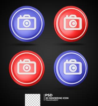 Conception d'icône de caméra de rendu 3d