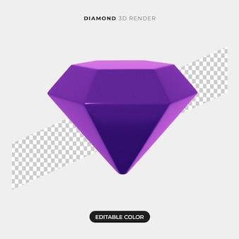 Conception d'icône de diamant 3d isolée