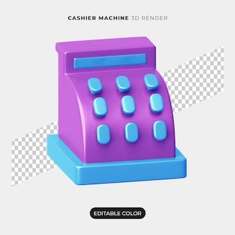 Conception d'icône de machine de caisse 3d isolée