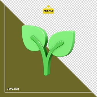 Conception d'icône de plante 3d