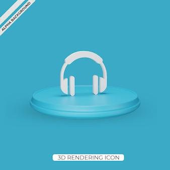 Conception d'icône de rendu casque 3d