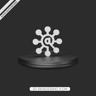 Conception d'icône de rendu de connexion 3d
