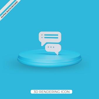 Conception d'icône de rendu de conversation 3d