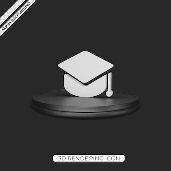 Conception d'icône de rendu de l'éducation 3d