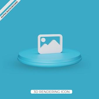 Conception d'icône de rendu d'image 3d