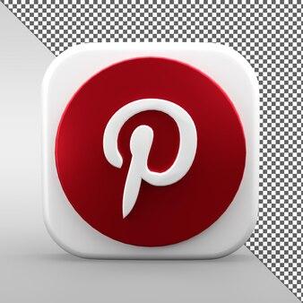 Conception d'icônes 3d pinterest isolé