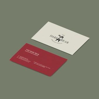 Conception d'identité d'entreprise psd de maquette de carte de visite rétro