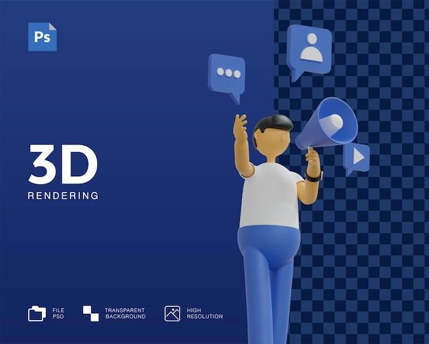 Conception d'illustration de campagne de marketing 3d