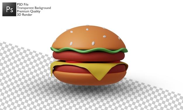 Conception d'illustration de hamburger 3d