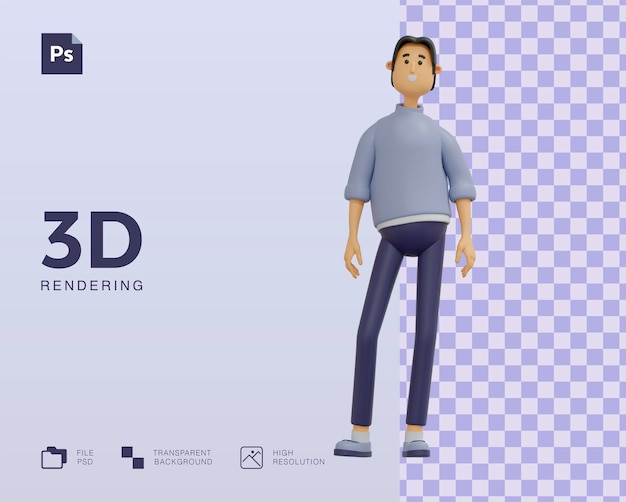 Conception d'illustration de personnage homme 3d