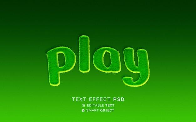 Conception de jeu d'effet de texte