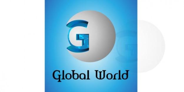 Conception de logo du monde