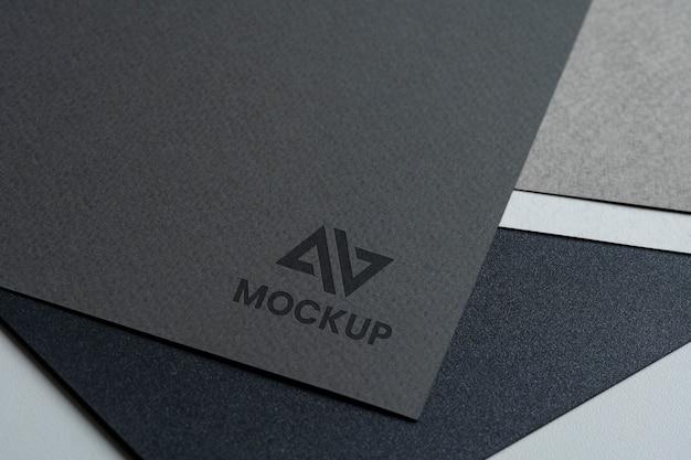 Conception de logo maquette vue de dessus