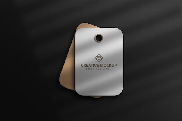 Conception de mackup d'étiquette de vente de prix marron de maquette