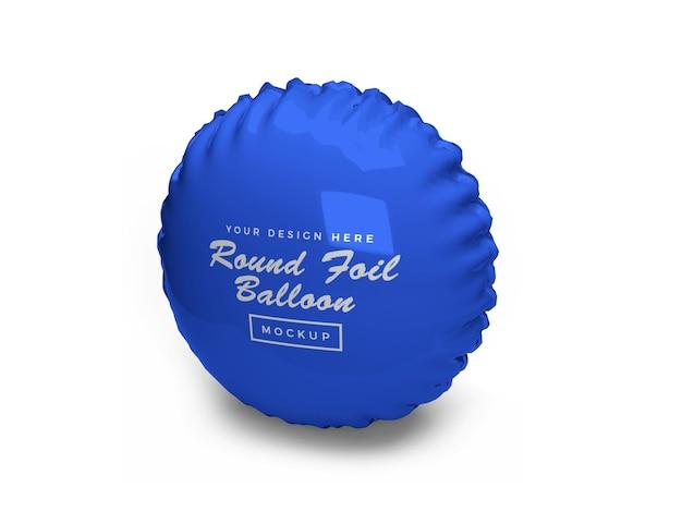 Conception de maquette 3d de ballon d'aluminium arrondi