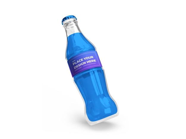 Conception de maquette 3d de bouteille de boisson gazeuse