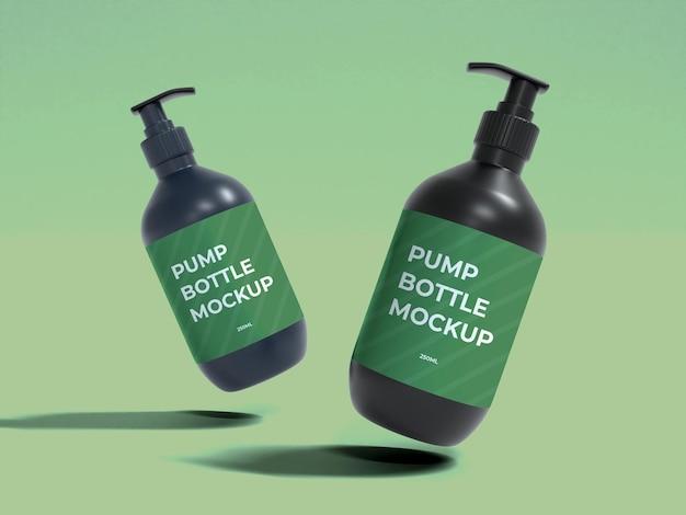 Conception de maquette 3d de bouteille de pompe cosmétique